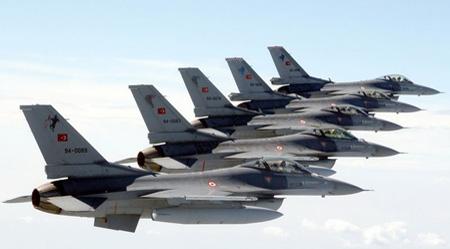 Turkish fighters Turkish airstrikes hit Kurdish rebels in Northern Iraq