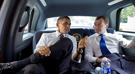 Obama Medvedev1 US Russia reset threatened by spy arrests