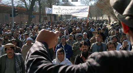 Kabul protests Anti US riots rock Kabul