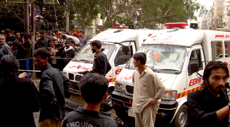 Karachi Major attack on Karachi police HQ