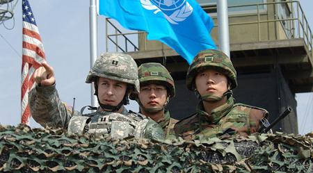 South Korean marines Dramatic clash on Korean border
