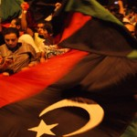 "Libyans in Tunis celebrate the ""Beginning of the End"""