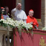 "Pope Francis gives the blessing ""Urbi et Orbi"""